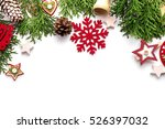 christmas still life. red toys  ... | Shutterstock . vector #526397032