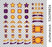 set of yellow vector ribbons ... | Shutterstock .eps vector #526398826