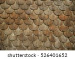 Weathered Wooden Shingles On A...