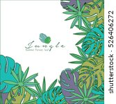 tropical paradise card with... | Shutterstock .eps vector #526406272