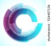 geometric blue frame  vector... | Shutterstock .eps vector #526407136