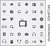 tv icon. device icons universal ... | Shutterstock .eps vector #526407166