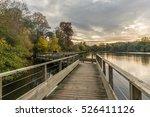 footbridge on the erdre river... | Shutterstock . vector #526411126
