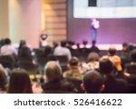 blurred audience  in auditorium ... | Shutterstock . vector #526416622
