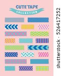 cute patterned scotch tapes...   Shutterstock .eps vector #526417252