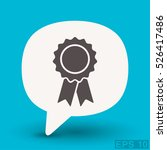 pictograph of award | Shutterstock .eps vector #526417486