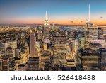 new york city skyline with...   Shutterstock . vector #526418488