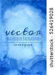vector watercolor blue and... | Shutterstock .eps vector #526419028