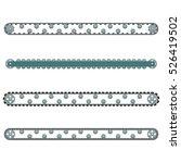 four conveyor set illustration... | Shutterstock . vector #526419502