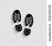 shoe print   black vector icon...