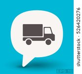 pictograph of truck | Shutterstock .eps vector #526420276