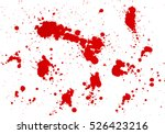 blood splashes hand made... | Shutterstock .eps vector #526423216