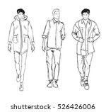sketch. handsome stylish man... | Shutterstock .eps vector #526426006