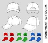 baseball  tennis cap colored... | Shutterstock . vector #526429825