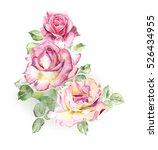 rosebush. pattern from pink... | Shutterstock . vector #526434955