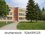 School Building. Exterior View...