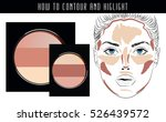 how to contour and highlight.... | Shutterstock .eps vector #526439572