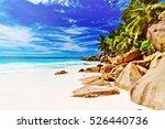 tropical island. the seychelles.... | Shutterstock . vector #526440736