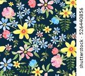 floral seamless pattern with... | Shutterstock . vector #526440856