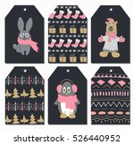 christmas tags set with cute...   Shutterstock .eps vector #526440952