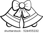 christmas bells with ribbon | Shutterstock .eps vector #526455232