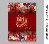 poinsettia christmas party... | Shutterstock .eps vector #526455682