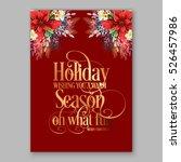 poinsettia christmas party... | Shutterstock .eps vector #526457986