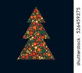 abstract christmas tree from... | Shutterstock .eps vector #526459375