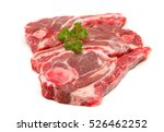 lamb forequarter chops isolated ... | Shutterstock . vector #526462252