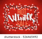 hot winter sale banner  vector... | Shutterstock .eps vector #526465492
