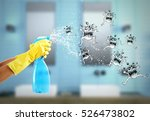 housewife cleaning spray. 3d... | Shutterstock . vector #526473802