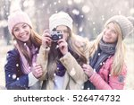 Group Of College Girls  With...