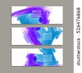vector banner shapes collection ... | Shutterstock .eps vector #526476868
