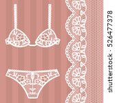 hand drawn lingerie. panty and... | Shutterstock .eps vector #526477378