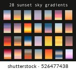 Sunset Gradient Bundle. Sky...
