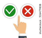 hand  finger pressing buttons... | Shutterstock .eps vector #526479838