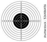 shooting target vector icon.... | Shutterstock .eps vector #526486456