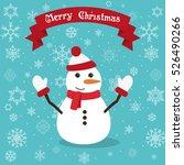 Cute Happy Snowman Wishing...
