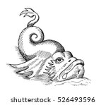 hand drawn sketch of fish... | Shutterstock .eps vector #526493596