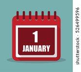 1 january. calendar in a flat...