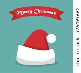santa hat with shadow and... | Shutterstock .eps vector #526499662