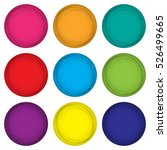 set of colored magnets in a... | Shutterstock .eps vector #526499665