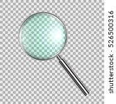 magnifying glass  with gradient ... | Shutterstock .eps vector #526500316
