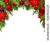 vector christmas background... | Shutterstock .eps vector #526502125