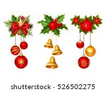 set of three vector christmas... | Shutterstock .eps vector #526502275