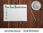 new year resolution inscription ... | Shutterstock . vector #526503466