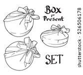 vector set of circle present... | Shutterstock .eps vector #526506178