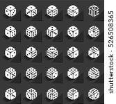 24 dice in all possible turns... | Shutterstock .eps vector #526508365