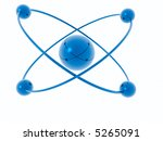 rings and spheres isolated on a ... | Shutterstock . vector #5265091