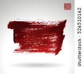 brush stroke and texture.... | Shutterstock .eps vector #526510162